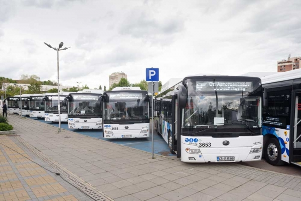 90% of the Public Buses in Sofia are New